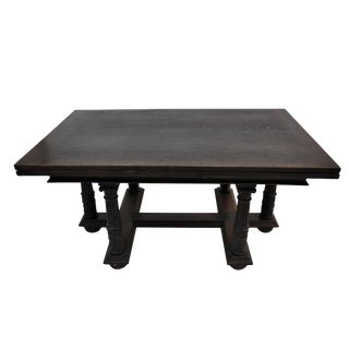 Carved Solid Оak Extending Jacobean Dining Table