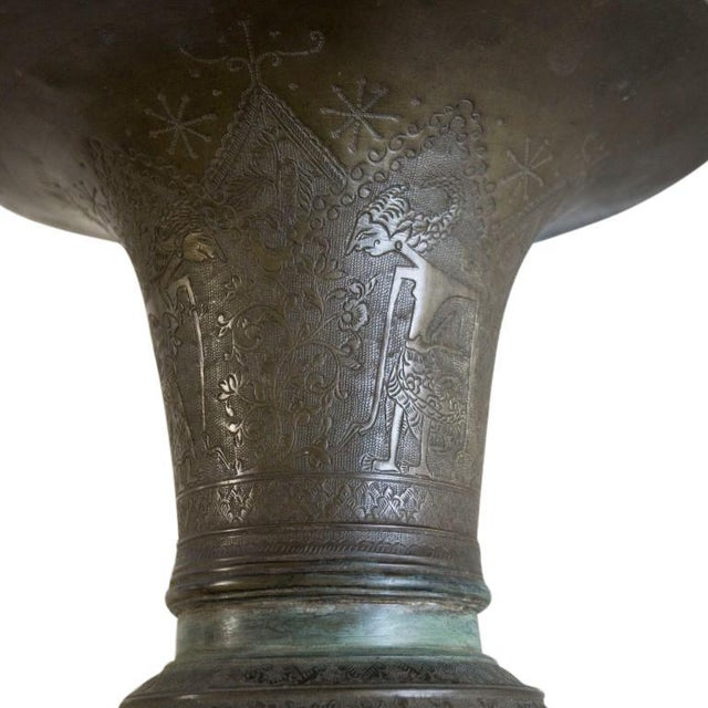 Asian Antique 19th Century Indonesian Bronze Tapered Urns For Sale - Image 3 of 13
