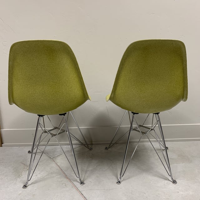 Mid-Century Modern Citron Modernica Shell Side Chairs - a Pair For Sale - Image 4 of 10