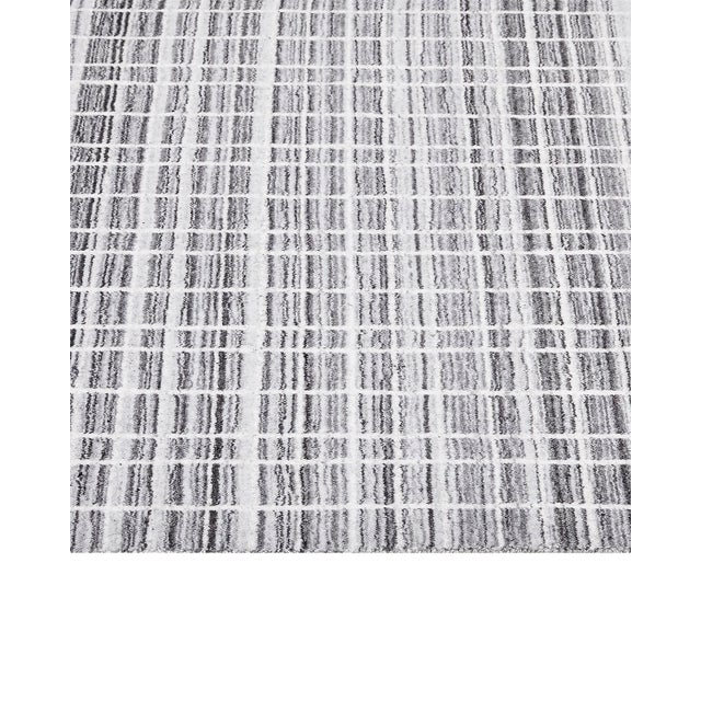 Finley, Contemporary Modern Loom Knotted Area Rug, Pewter, 12 X 15 For Sale - Image 4 of 9