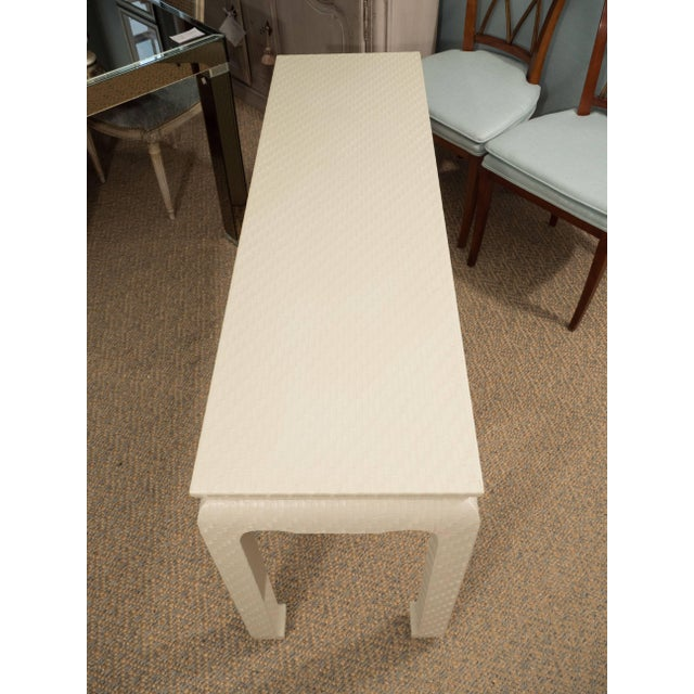 White Lacquered Console Table For Sale - Image 9 of 10