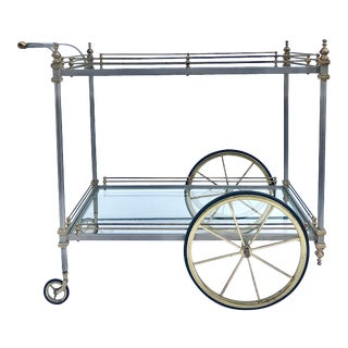1960's Maison Jansen Italian Dry Bar Cart For Sale