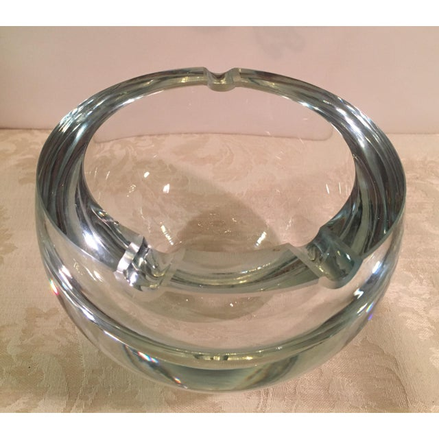 Mid-Century Clear Glass Orb Ashtray - Image 4 of 8