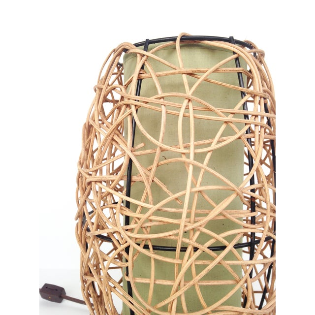 Midcentury Rattan Beehive Table Lamp - Image 3 of 5