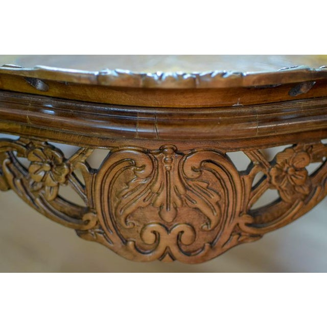 Brown Early 20th Century Antique Tonk French Court Galleries Coffee Table For Sale - Image 8 of 13