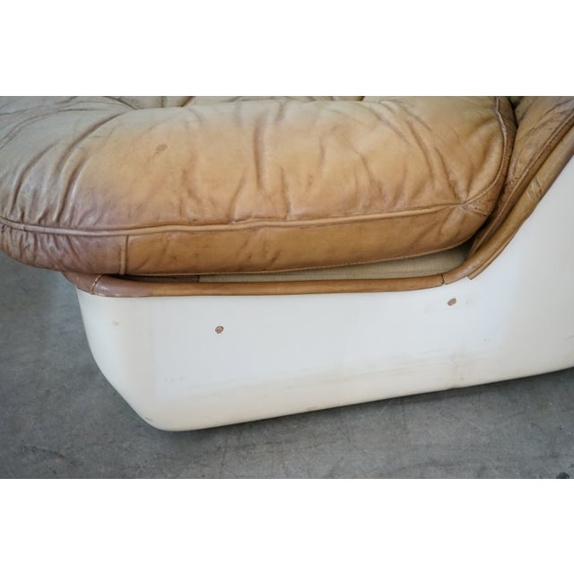 Leather Pair of Leather Chairs and Single Ottoman, Sold as a Set For Sale - Image 7 of 10