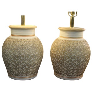 Pair of Ceramic Lamps by Casual Lamps of California For Sale