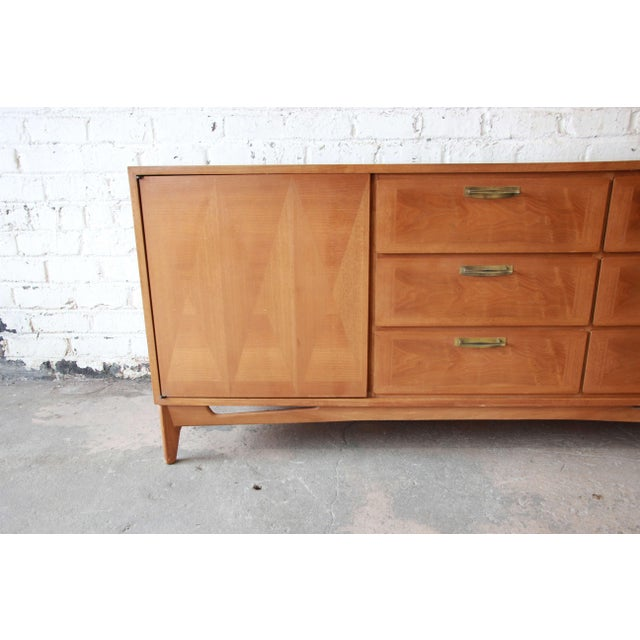 Mid 20th Century Mid-Century Modern Mahogany Parquetry Credenza by Red Lion For Sale - Image 5 of 11