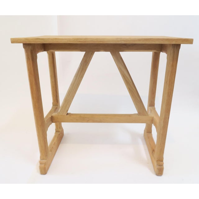 Martin & Brockett Short Trestle Wood Table - Image 4 of 7