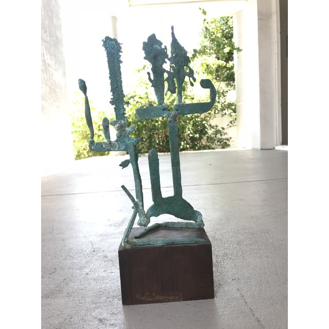 Mid-Century Modern Mid Century Modern Metal Sculpture For Sale - Image 3 of 7