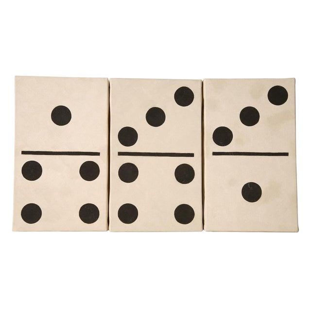 Pop Art Domino Set #12 Oil on Canvas by Lynne Bernbaum For Sale