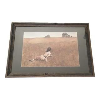 """Framed Print of Andrew Wyeth's """"Christina's World"""""""