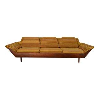 "Flexsteel Mid-Century Modern ""Thunderbird"" Gondola Sofa For Sale"