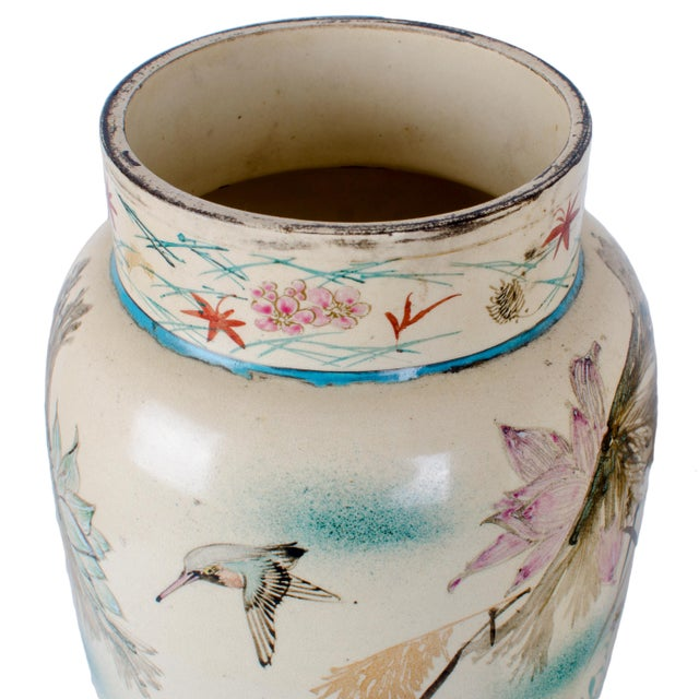 Hand Painted Japanese Vases - a Pair For Sale In Savannah - Image 6 of 9