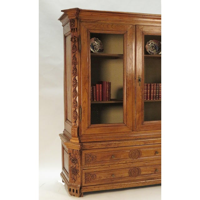 Early 19th Century Elm Richly Carved Baltic Cabinet For Sale In San Francisco - Image 6 of 8