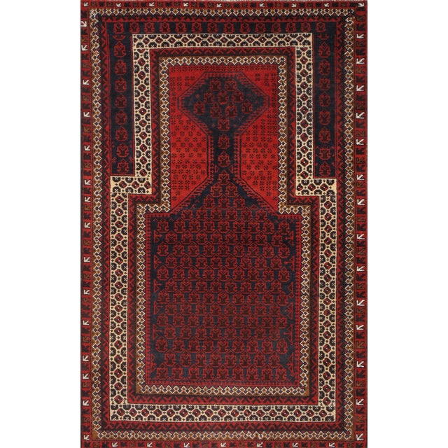 "Pasargad Balouch Collection Red Rug - 3' X 4'9"" - Image 1 of 2"