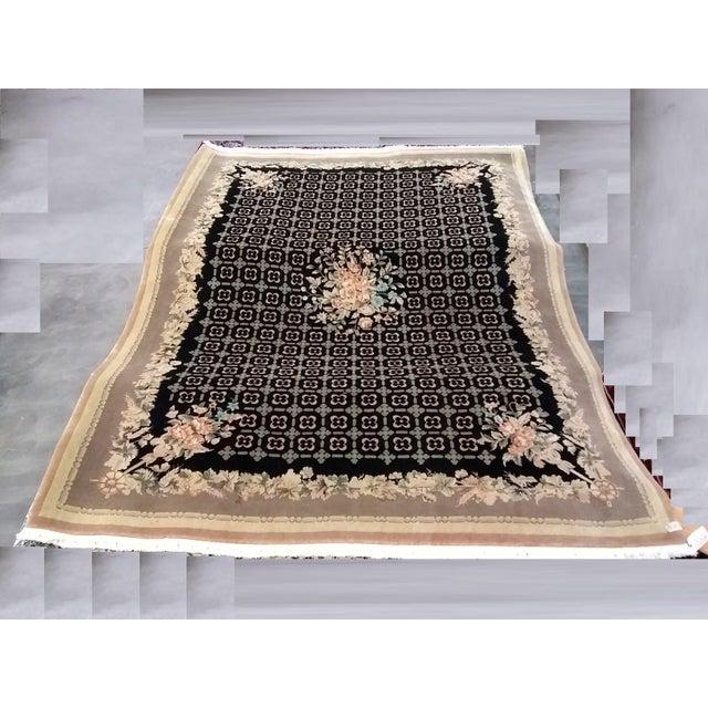 """Chinese Handmade Wool Rug - 8'4"""" x 11'8"""" - Image 5 of 5"""