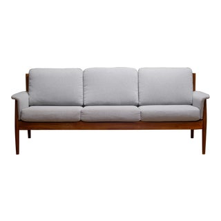 Mid-Century Solid Teak Grete Jalk for Fance and Son Sofa C.1960 For Sale