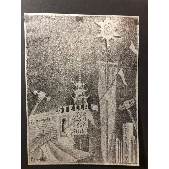 1915 Pencil Drawing San Francisco World's Fair For Sale In New York - Image 6 of 6