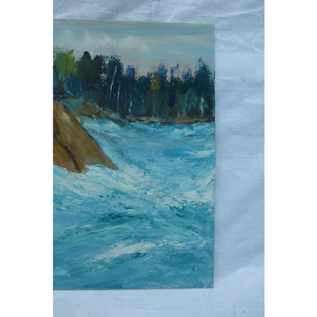 MCM Oil Painting of New England Ocean - Image 5 of 6