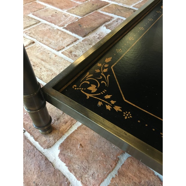 Chinoiserie Oval Metal Cocktail Table For Sale - Image 11 of 12