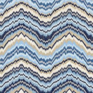 Scalamandre Bergamo Embroidery Fabric in Indigo For Sale