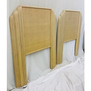 Pair Pencil Reed Rattan & Cane Back Beds Preview