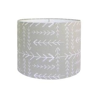 Beige Arrow Fabric Drum Lamp Shade