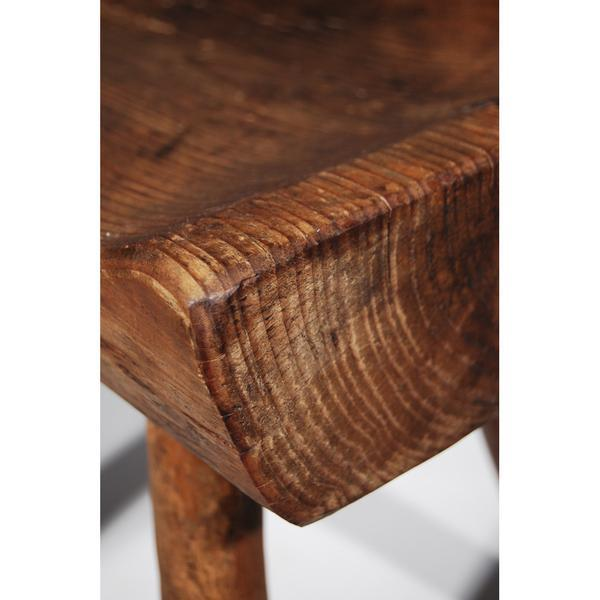 Small Wooden Carved Stool For Sale - Image 10 of 11