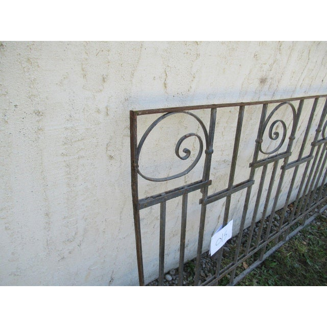 Antique Victorian Iron Gate Window Garden Fence Architectural Salvage Door #015 For Sale - Image 5 of 6