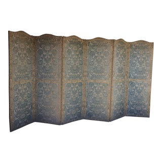 Antique Six Panel Textile Screen