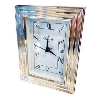 Christofle Paris Silver Plated Clock For Sale