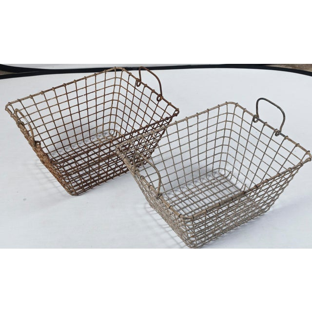 20th Century French Oyster Baskets - a Pair For Sale - Image 9 of 11