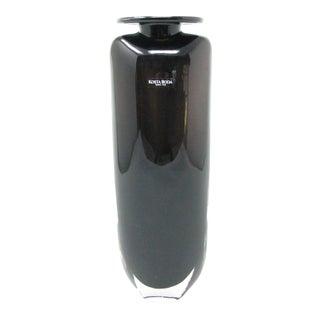 Vintage Kosta Boda Kjell Engman Dark Amethyst Shoulder Vase For Sale