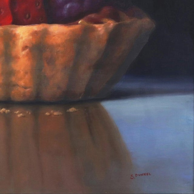 """2020s """"Strawberry Tartle"""" Framed Original Photorealistic Oil Painting by Stuart Dunkel For Sale - Image 5 of 10"""