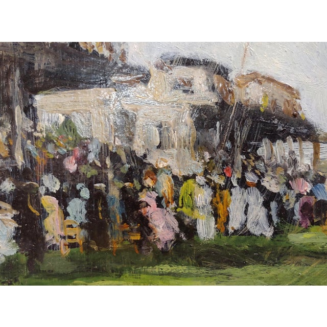 1920s Gabriel Spat -An Evening at the Race Track -1920s French Oil Painting For Sale - Image 5 of 11