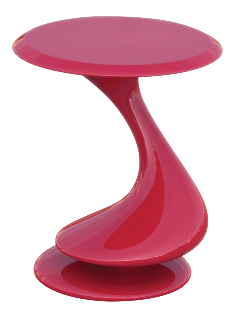 - Accent Table No. 5 By Chris Delmar In Ruby Red Chairish