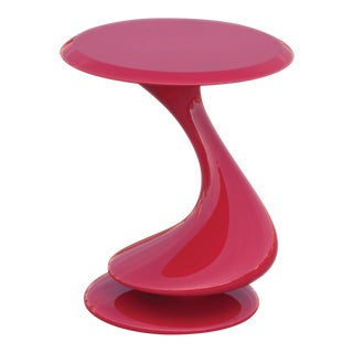 Accent Table No. 5 by Chris Delmar in Ruby Red For Sale