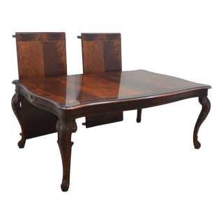 Henredon Mahogany Banded Dining Table For Sale