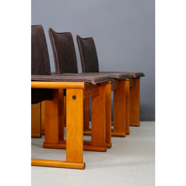 1970s Afra & Tobia Scarpa Set MidCentury Chair for Molteni, Monk Series. 1970s For Sale - Image 5 of 9