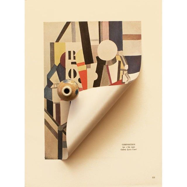 "Fernand Léger 1948 Fernand Leger ""Composition"", First Edition Period Parisian Lithograph For Sale - Image 4 of 8"