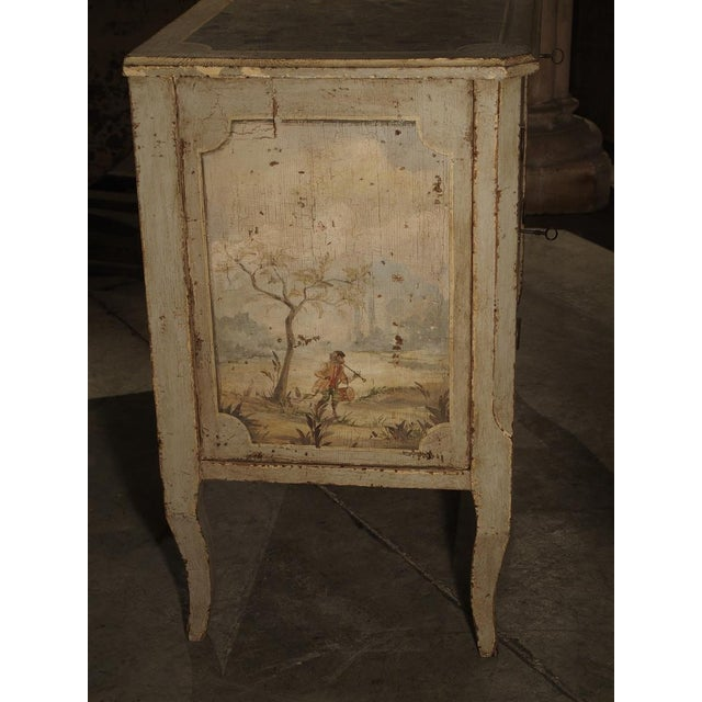 Paint Antique Painted Commode From Italy, 19th Century For Sale - Image 7 of 13