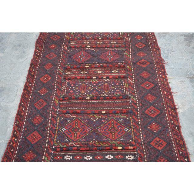 "Afghan Soumak Tribal Kilim Runner-2'3'x9'11"" For Sale - Image 4 of 11"