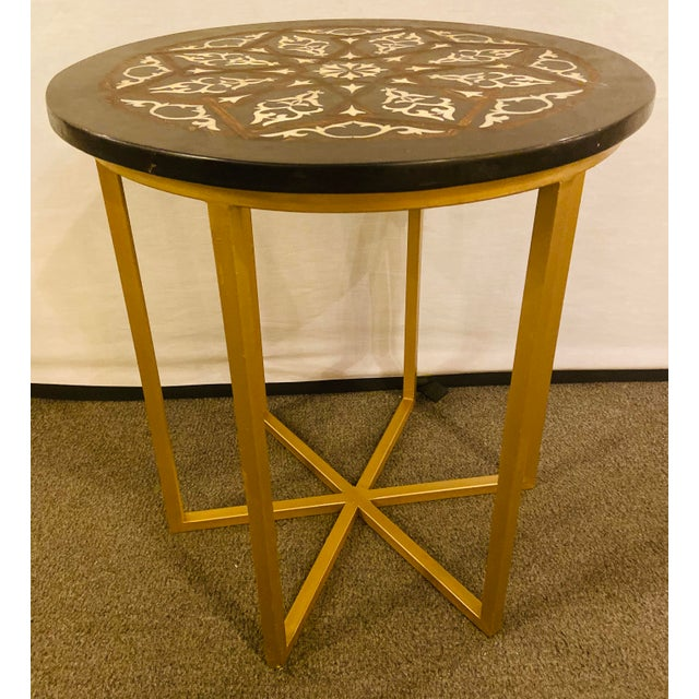 Moroccan Brass Side Table For Sale - Image 10 of 13