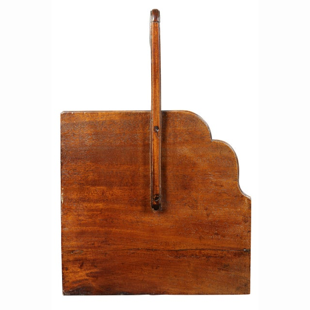 Early 19th Century George III Mahogany Book Carrier For Sale - Image 5 of 8