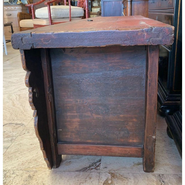 20th Century Tibetan Dowry Chest For Sale In Tampa - Image 6 of 10