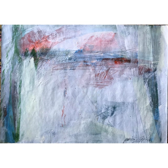 """1980s Bay Area Artist """"East Creek Bridge"""" Abstract Painting For Sale In New York - Image 6 of 6"""