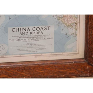 Oak Framed China Coast & Korea Map Preview
