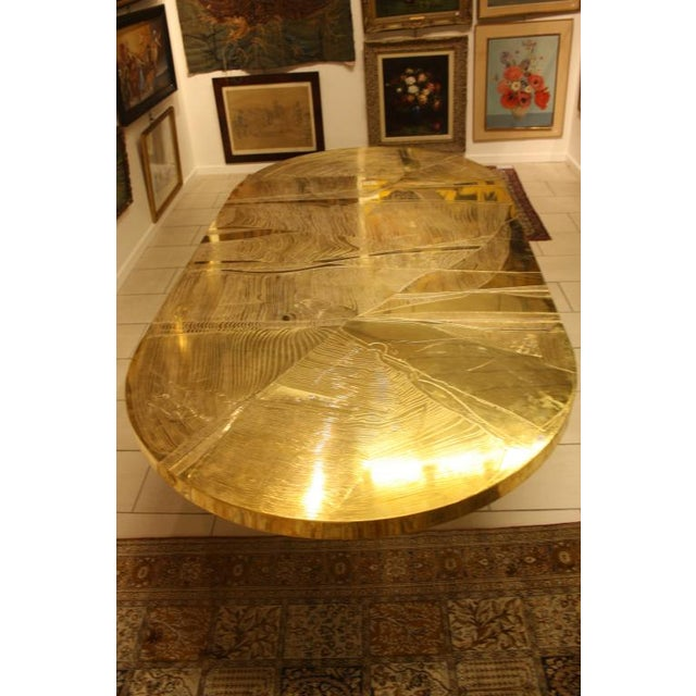 Signed Armand Jonckers Etched Bronze Dining Table For Sale - Image 9 of 9