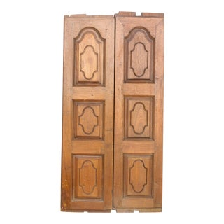 19th Century Teak Indo-Portguese Solid Doors For Sale